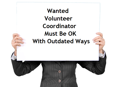 Volunteer Coordinator Needed read the fine print