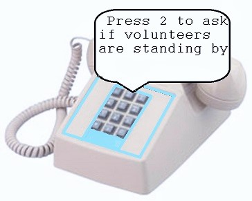 Press 2 For That Volunteer Question