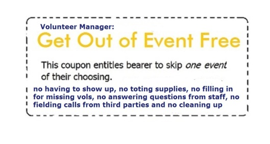 Get out of event free coupon